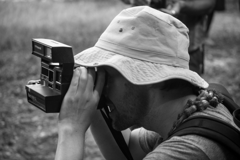 GP taking a Polaroid picture